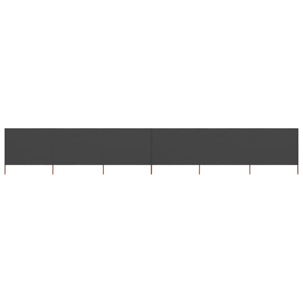 vidaXL Windscherm 6-panelen 800x80 cm stof grijs
