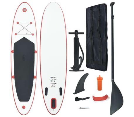 vidaXL Stand-up paddleboard opblaasbaar rood en wit[1/8]