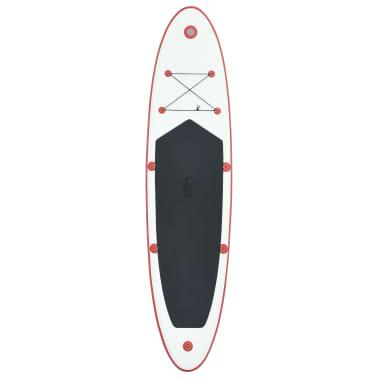 vidaXL Stand-up paddleboard opblaasbaar rood en wit[3/8]
