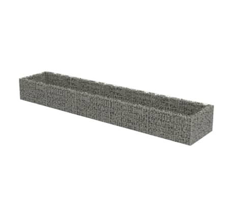 vidaXL horganyzott acél gabion magaságyás 450 x 90 x 50 cm