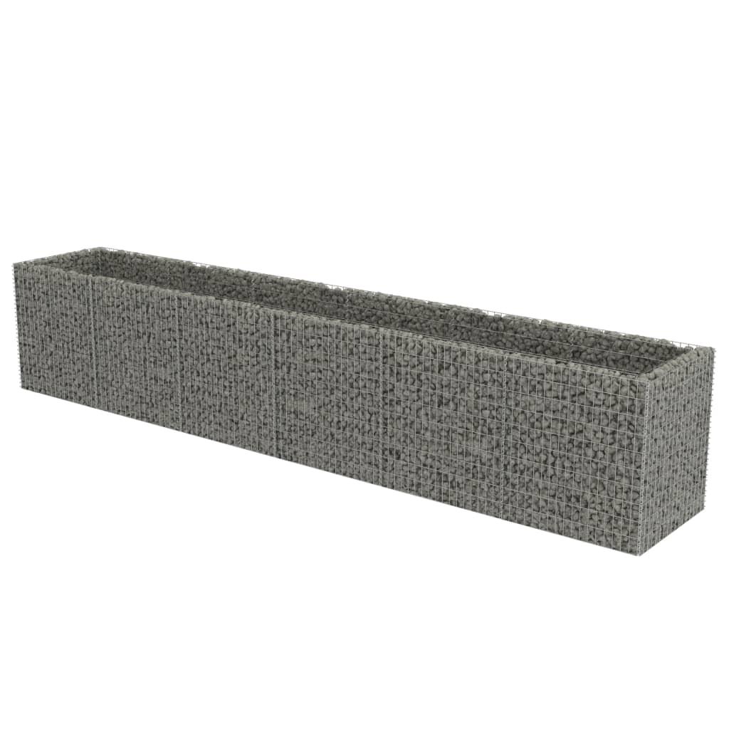 vidaXL Συρματοκιβώτιο Γλάστρα 540 x 90 x 100 εκ. Γαλβανισμένος Χάλυβας