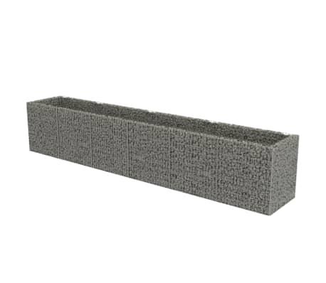 vidaXL Canteiro elevado/cesto gabião 540x90x100 cm aço galvanizado