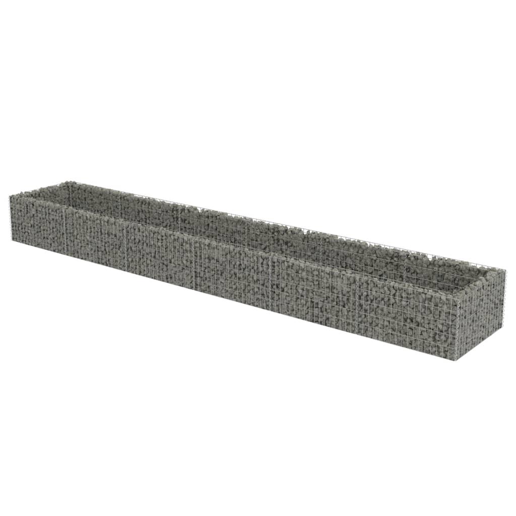 vidaXL Συρματοκιβώτιο Γλάστρα 540 x 90 x 50 εκ. Γαλβανισμένος Χάλυβας