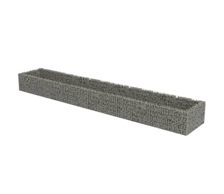 vidaXL Planteringsgabion upphöjd galvaniserat stål 540x90x50 cm