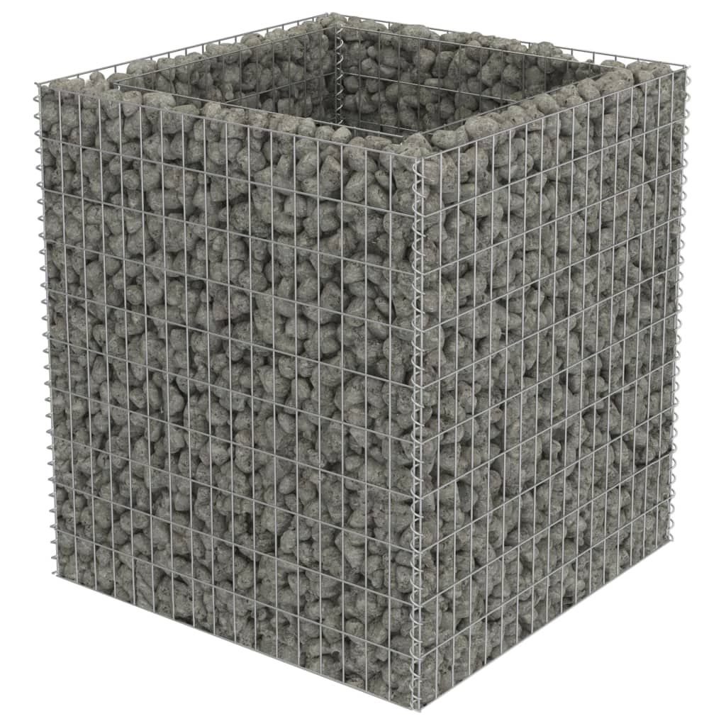 vidaXL Συρματοκιβώτιο Γλάστρα 90 x 90 x 100 εκ. Γαλβανισμένος Χάλυβας