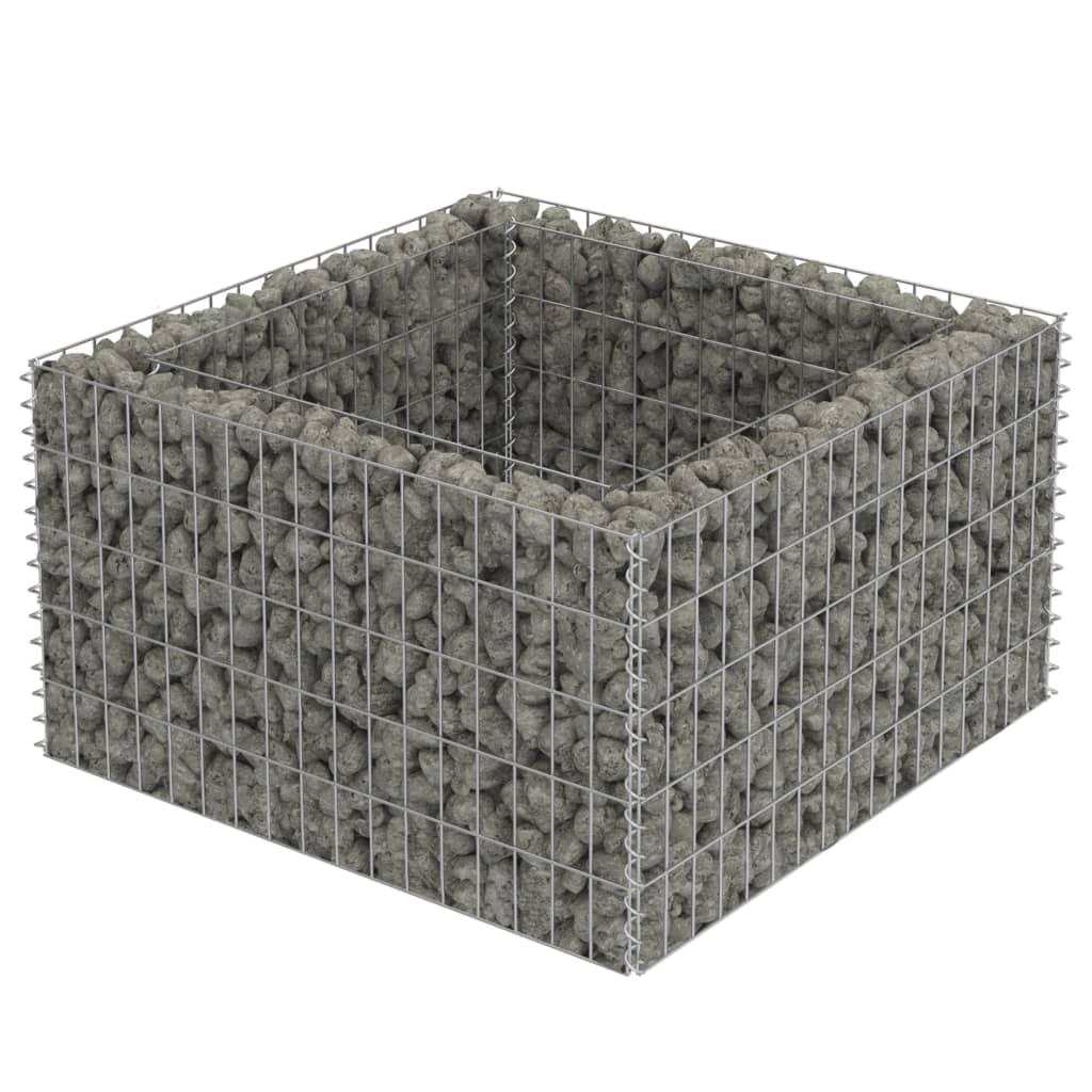 vidaXL Συρματοκιβώτιο Γλάστρα 90 x 90 x 50 εκ. Γαλβανισμένος Χάλυβας