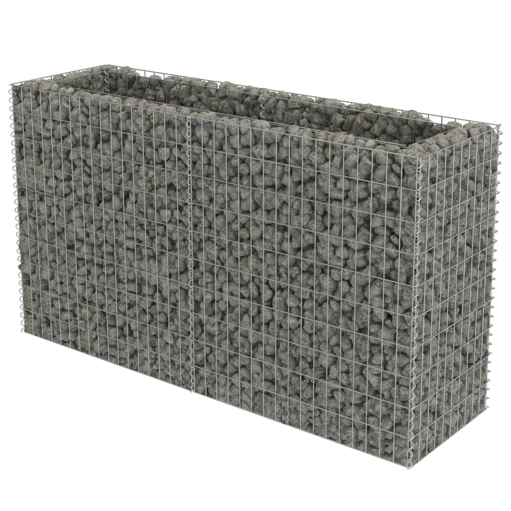 vidaXL Συρματοκιβώτιο Γλάστρα 180 x 50 x 100 εκ. Γαλβανισμένος Χάλυβας