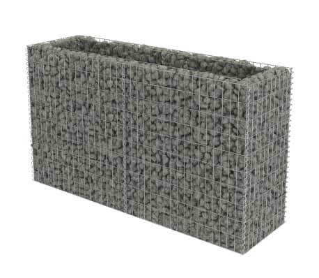 "vidaXL Gabion Planter Galvanised Steel 70.9""x19.7""x39.4"""