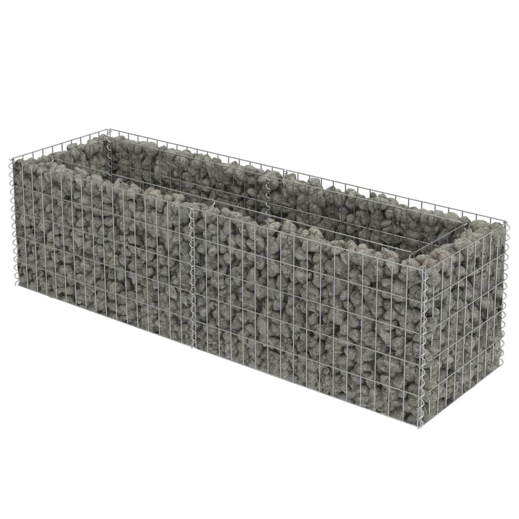 vidaXL Συρματοκιβώτιο Γλάστρα 180 x 50 x 50 εκ. Γαλβανισμένος Χάλυβας