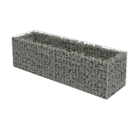 vidaXL Gabion Raised Bed Galvanised Steel 180x50x50 cm-picture
