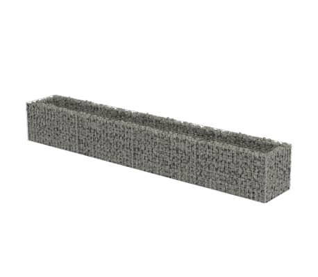 vidaXL Podwyższona donica gabionowa, galwanizowana stal, 360x50x50 cm