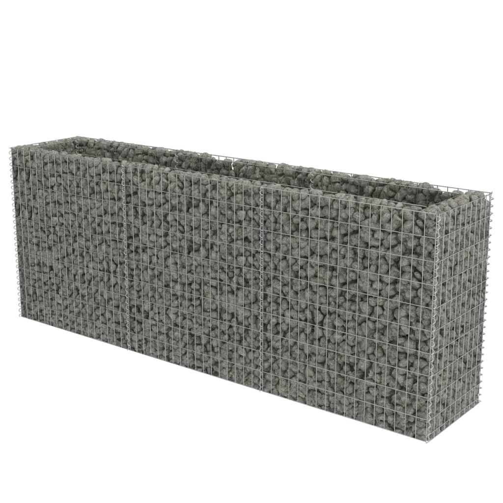 vidaXL Συρματοκιβώτιο Γλάστρα 270 x 50 x 100 εκ. Γαλβανισμένος Χάλυβας