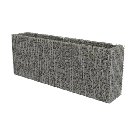 vidaXL Gabion høybed galvanisert stål 270x50x100 cm