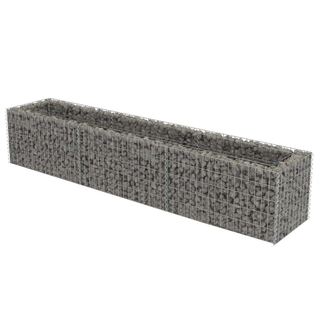 vidaXL Συρματοκιβώτιο Γλάστρα 270 x 50 x 50 εκ. Γαλβανισμένος Χάλυβας