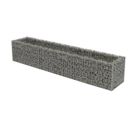 vidaXL Planteringsgabion upphöjd galvaniserat stål 270x50x50 cm