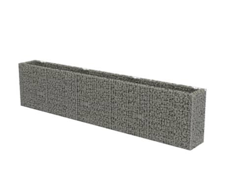 vidaXL Planteringsgabion upphöjd galvaniserat stål 450x50x100 cm
