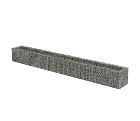 vidaXL Planteringsgabion upphöjd galvaniserat stål 450x50x50 cm