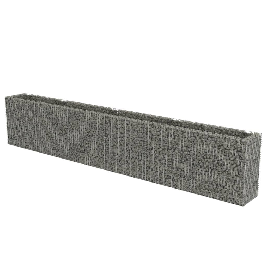 vidaXL Συρματοκιβώτιο Γλάστρα 540 x 50 x 100 εκ. Γαλβανισμένος Χάλυβας