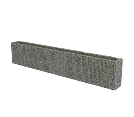 vidaXL Planteringsgabion upphöjd galvaniserat stål 540x50x100 cm