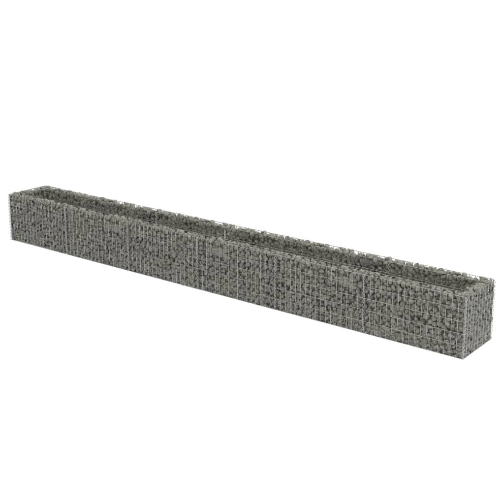 vidaXL Συρματοκιβώτιο Γλάστρα 540 x 50 x 50 εκ. Γαλβανισμένος Χάλυβας