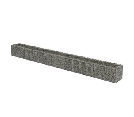 vidaXL Gabion Raised Bed Galvanised Steel 540x50x50 cm