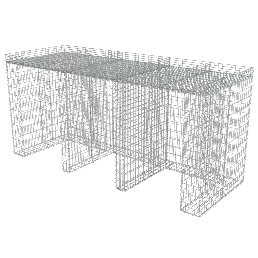 Afbeelding van vidaXL Schanskorf muur container 270x100x130 cm gegalvaniseerd staal
