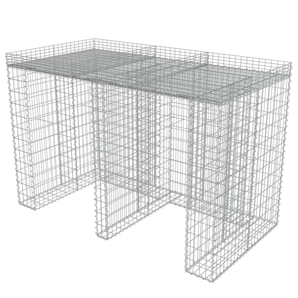 Afbeelding van vidaXL Schanskorf muur container 190x100x130 cm gegalvaniseerd staal