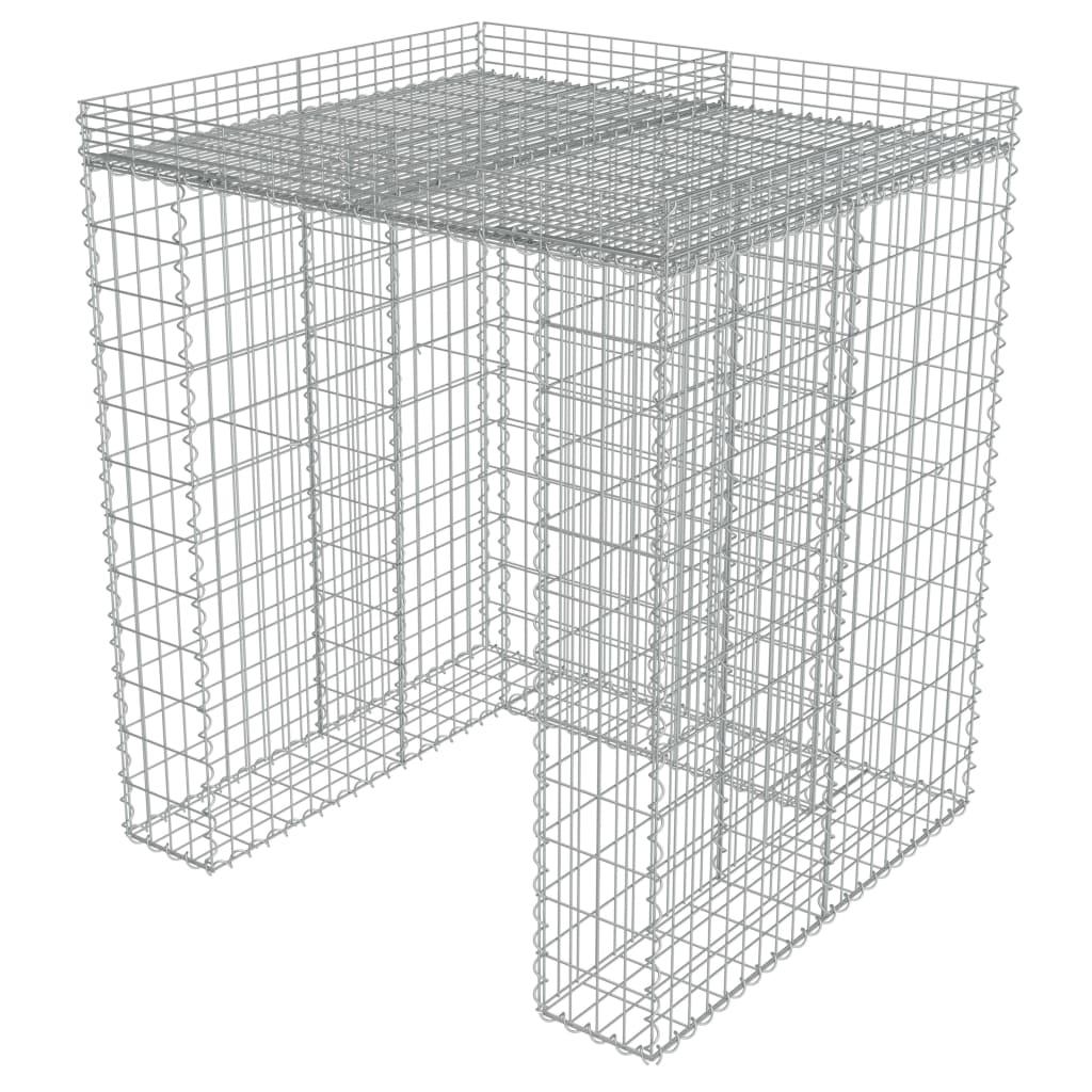 Afbeelding van vidaXL Schanskorf muur container 110x100x130 cm gegalvaniseerd staal