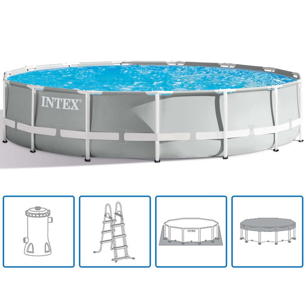 9991487 Intex Prism Frame Swimmingpool-Set Rund 457 x 107 cm 26724GN