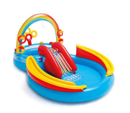Intex Aufblasbarer Pool Rainbow Ring Play Center 297x193x135cm 57453NP
