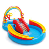 Intex Uppblåsbar pool Rainbow Ring Play Center 297x193 x135 cm 57453NP