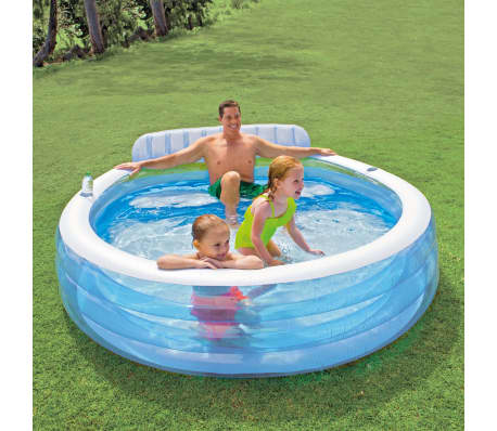 Intex Swim Center Aufblasbarer Pool Family Lounge Pool 57190np