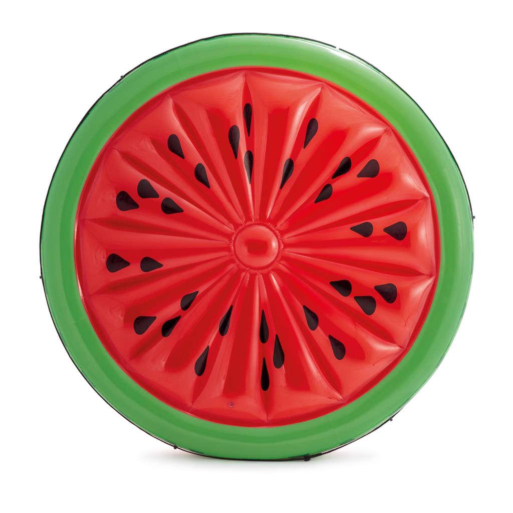 Dit ruime luchtbed Watermelon Island 56283EU van Intex heeft de realistische vorm van een watermeloen en zal de blikvanger van deze zomer zijn.