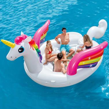 Intex Luchtbed Unicorn Party Island 57266EU[1/4]