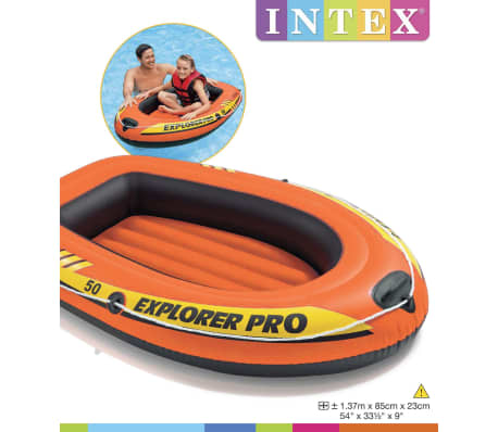 Intex Uppblåsbar båt Explorer Pro 50 137x85x23 cm 58354NP[4/4]