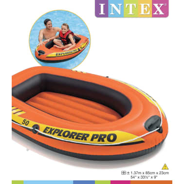 Intex Uppblåsbar båt Explorer Pro 50 137x85x23 cm 58354NP[3/4]