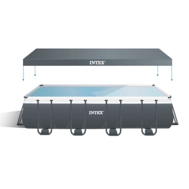 intex ultra xtr frame pool set rechteckig 549 x 274 x 132. Black Bedroom Furniture Sets. Home Design Ideas