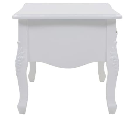 vidaXL Kavos staliukas, baltas, 100x50x46 cm[3/9]