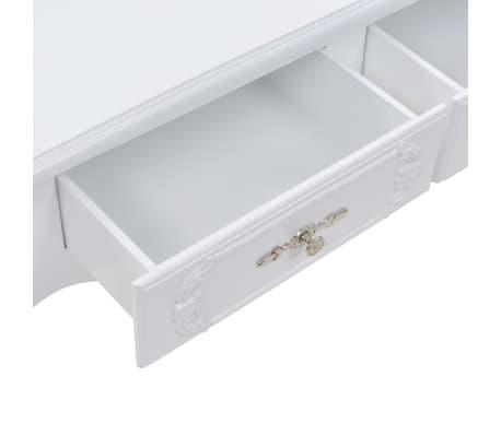 vidaXL Kavos staliukas, baltas, 100x50x46 cm[5/9]