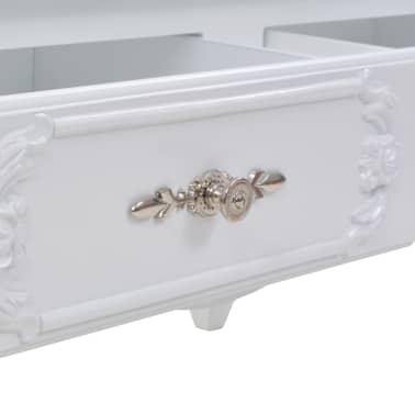 vidaXL Kavos staliukas, baltas, 100x50x46 cm[6/9]