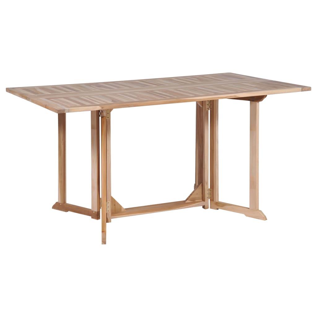 vidaXL Skládací jídelní stůl z masivního teaku 150 x 90 x 75 cm