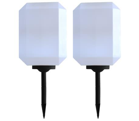 vidaXL Lampade Solari da Esterni 2 pz a LED Cubiche 30 cm Bianco
