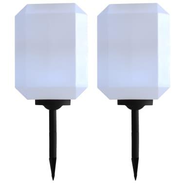 vidaXL Zahradní solární lampy 2 ks LED 30 cm bílé[1/9]