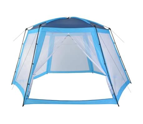 vidaXL Tenda para piscina 500x433x250 cm tecido azul