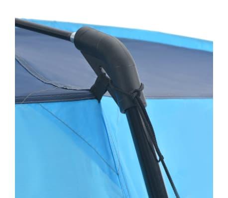 vidaXL Palapinė baseinui, mėlynos sp., 500x433x250cm, audinys[4/6]