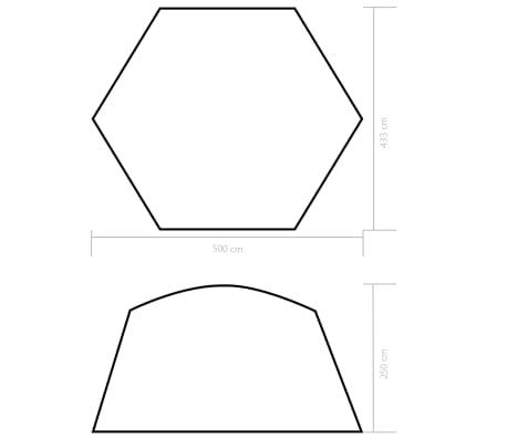 vidaXL Palapinė baseinui, mėlynos sp., 500x433x250cm, audinys[6/6]