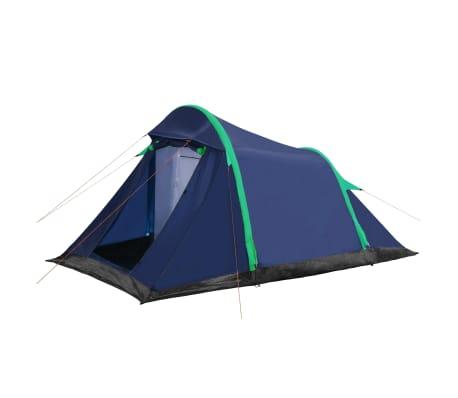vidaXL Tent met opblaasbare tentbogen 320x170x150/110 cm blauw groen