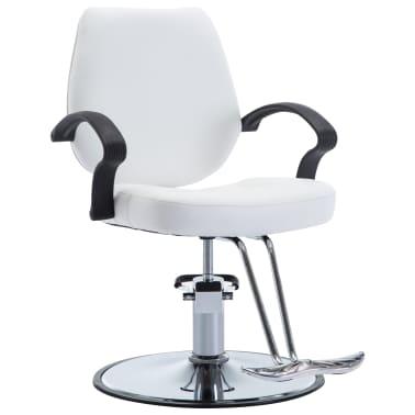vidaXL Fotel barberski ze sztucznej skóry, biały[1/8]