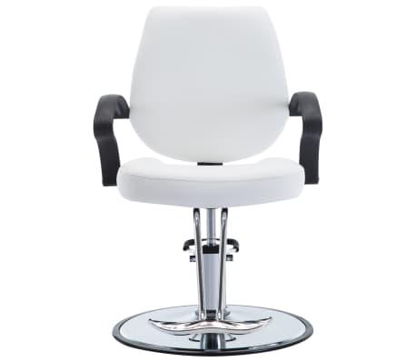 vidaXL Kirpėjo kėdė, dirbtinė oda, balta[2/8]