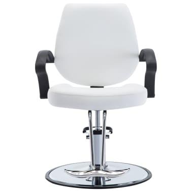vidaXL Fotel barberski ze sztucznej skóry, biały[2/8]